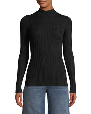 ATM Anthony Thomas Melillo Long-Sleeve Ribbed Turtleneck Sweater