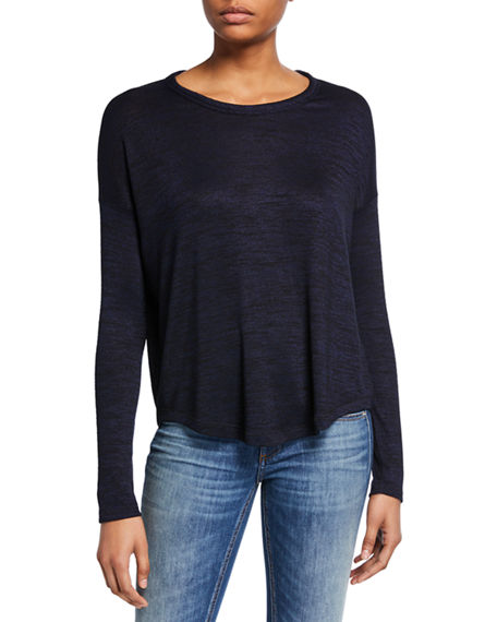 Rag & Bone Hudson Crewneck Long-Sleeve Top