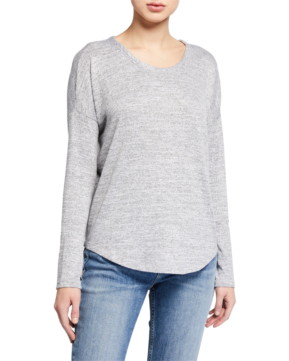 Rag & Bone Tops HUDSON CREWNECK LONG-SLEEVE TOP