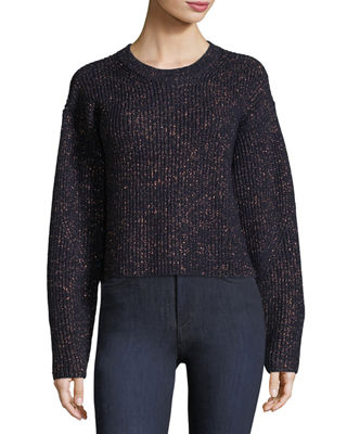 Image 1 of 3: Jubilee Metallic Crewneck Sweater