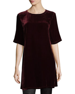 Eileen Fisher Half-Sleeve Velvet Tunic