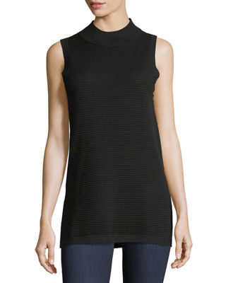 Cashmere-Blend Sleeveless Ottoman Top