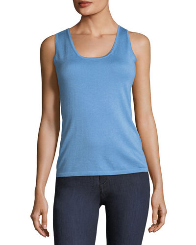 Cashmere Scoop-Neck Tank