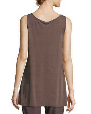 Image 2 of 2: Scoop-Neck Stretch Silk Jersey Tunic