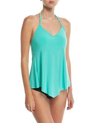Gigi V-Neck Halter Solid Swim Top