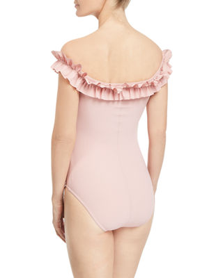 Image 2 of 4: Mondria Off-the-Shoulder Maillot One-Piece Swimsuit