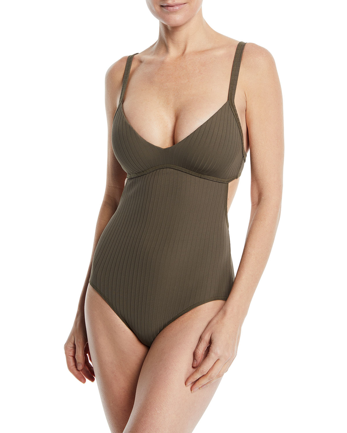 Inka Ribbed One-Piece Maillot Swimsuit