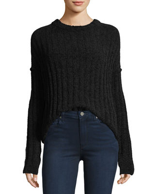Image 1 of 3: Chenille Crewneck Pullover Sweater