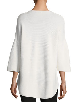 ATM Anthony Thomas Melillo Merino Wool Trapeze Crewneck