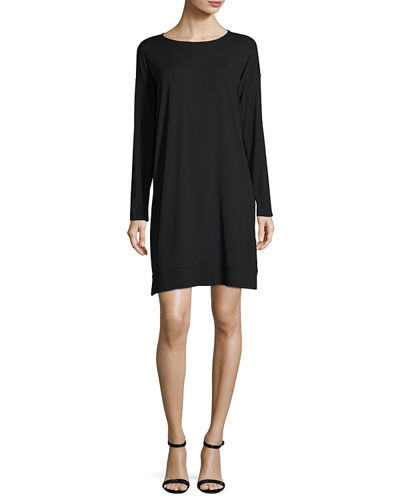Eileen Fisher Lightweight Jersey Knee-Length Dress, Petite