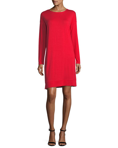 Lightweight Jersey Knee-Length Dress, Plus Size