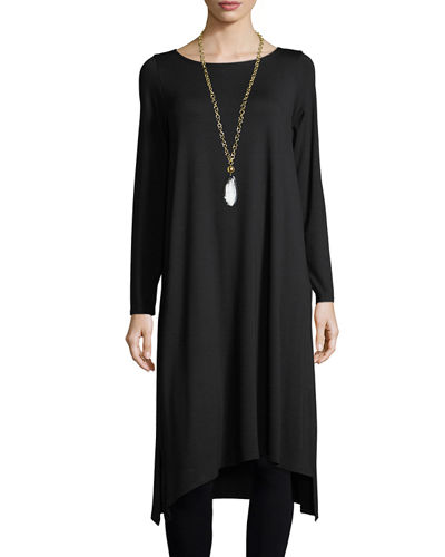 Long-Sleeve Asymmetric Dress