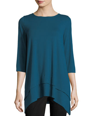 Eileen Fisher 3/4-Sleeve Jersey Tunic