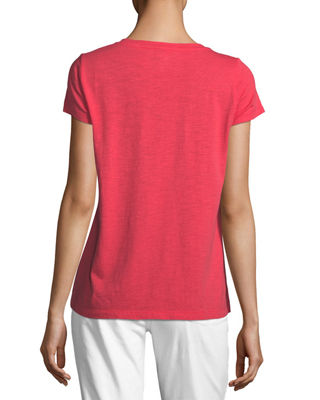 Image 2 of 2: Slubby Short-Sleeve Cotton Tee, Petite