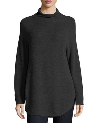 Mock-Neck Merino Tunic