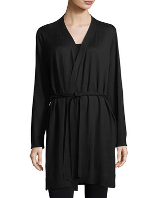 Eileen Fisher Belted Simple Cardigan, Petite