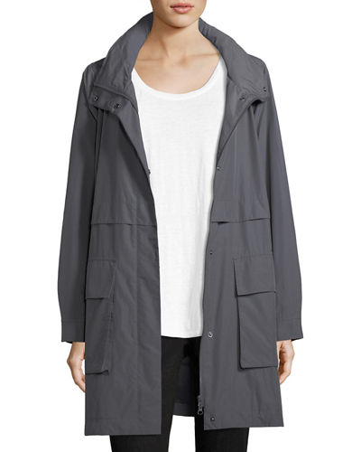 Organic Cotton-Blend Hooded Jacket