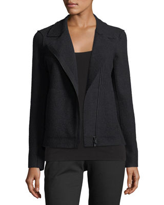 Eileen Fisher Boiled Wool Moto Jacket