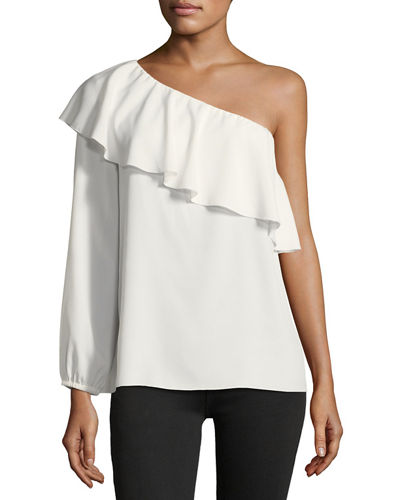 ONE SHOULDER ONE SLEEVE TOP