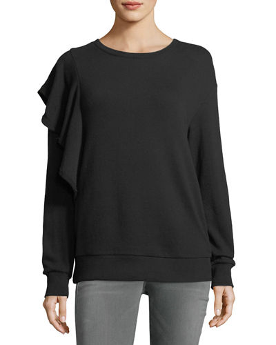 Westfourth Crewneck Sweatshirt with Ruffle Detail