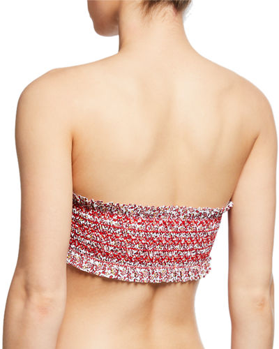 Costa Smocked Bandeau Swim Top