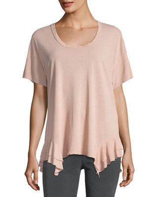 Image 1 of 2: The Tier Short-Sleeve Cotton Top