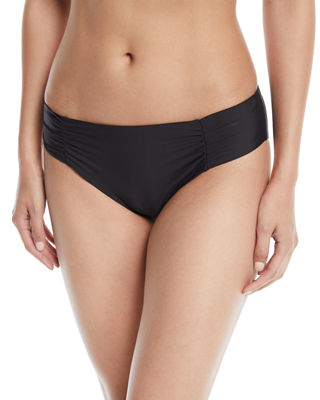 Athena Hey There Shirred-Side Hipster Swim Bikini Bottom