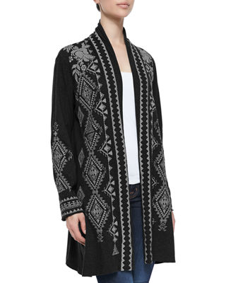 Tulia Embroidered Duster Cardigan