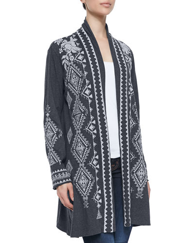Johnny Was Tulia Embroidered Duster Cardigan & Altivo