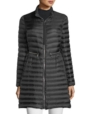 Agatelon Zip-Front Quilted Puffer Coat