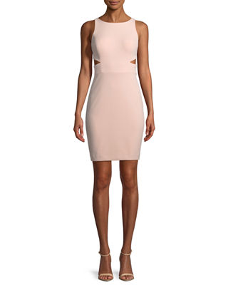Aidan by Aidan Mattox Scuba Crepe Cutout Cocktail