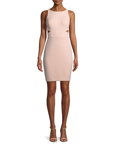 Scuba Crepe Cutout Cocktail Dress