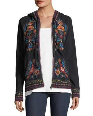 Izamal Embroidered Hoodie Sweatshirt, Plus Size