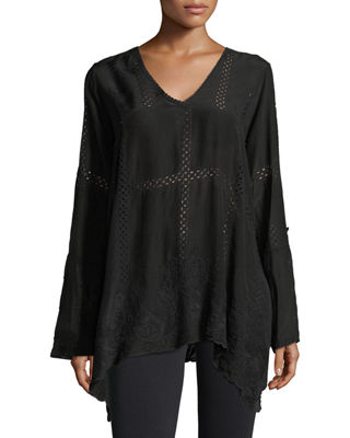 Johnny Was Cage Flare Long-Sleeve Tunic, Plus Size