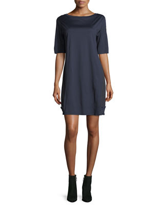 Moncler Abito Corto Half-Sleeve Mini Dress
