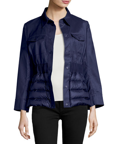 Beryl Semi-Fit Mixed-Media Jacket