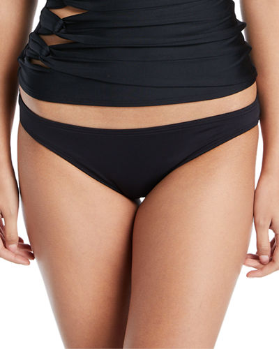 Coastal Twist Solid Bikini Swim Bottoms