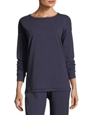 Eileen Fisher Stretch Jersey Sweatshirt Top, Petite and