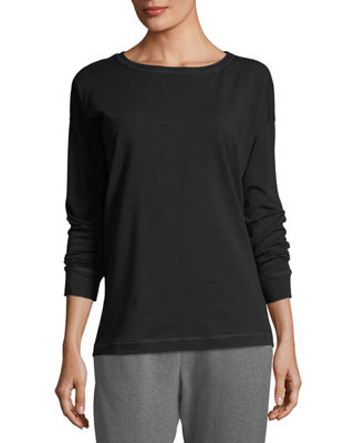 Eileen Fisher Stretch Jersey Sweatshirt Top