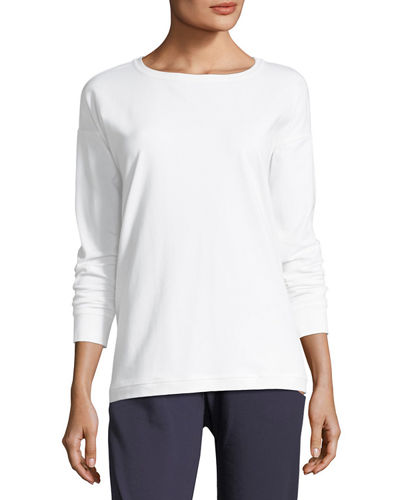 Stretch Jersey Sweatshirt Top