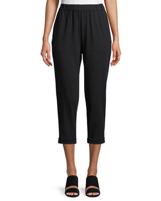 Jersey Slouchy Cropped Pants, Petite