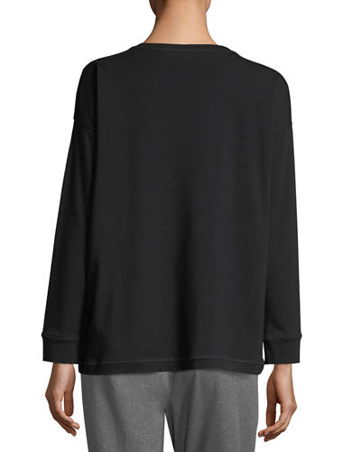 Stretch Jersey Sweatshirt Top, Plus Size