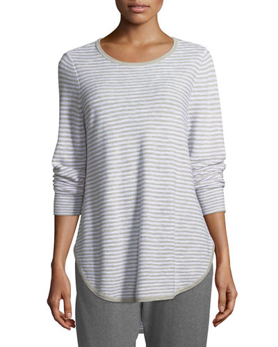 Eileen Fisher Linen-Blend Slub Top