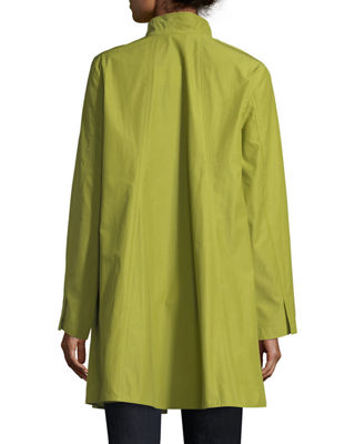 Image 2 of 2: Weather-Resistant Snap-Front Coat, Petite