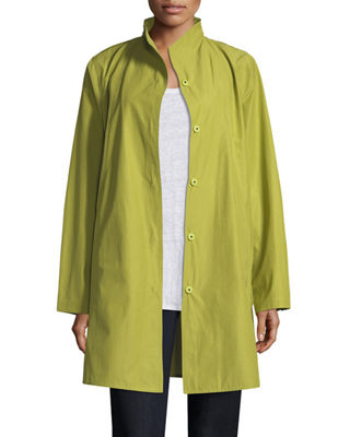 Image 1 of 2: Weather-Resistant Snap-Front Coat, Petite