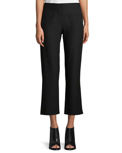 Eileen Fisher Washable Stretch Crepe Boot-Cut Pants and