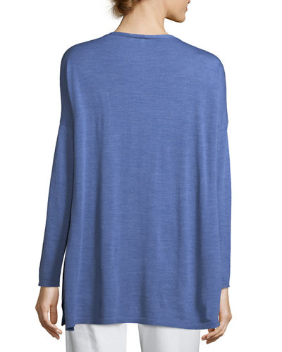 Ultrafine Merino V-Neck Tunic, Plus Size