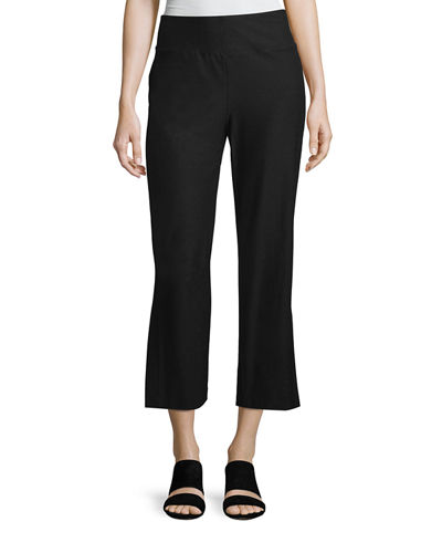 Eileen Fisher Washable Stretch Crepe Boot-Cut Pants, Plus