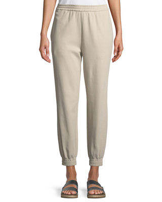 Joan Vass Stretch Interlock Jogger Pants, Plus Size