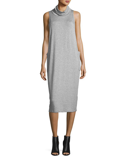 Cowl-Neck Sleeveless Knit Dress, Plus Size